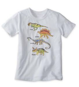 "Short Sleeve Dinosaurs ""Roar Stomp March Thump"" Graphic Tee"
