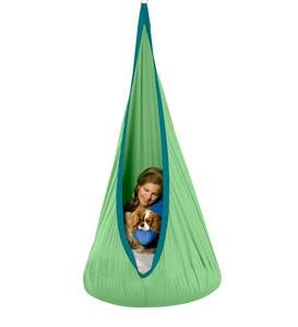 HugglePod® Deluxe Indoor/Outdoor Canvas Hanging Chair - Blue