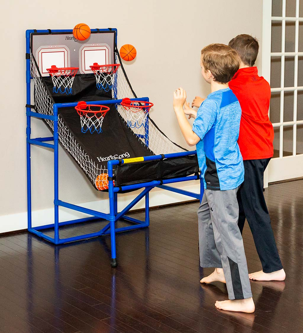 Quad Shootout Folding Basketball Set