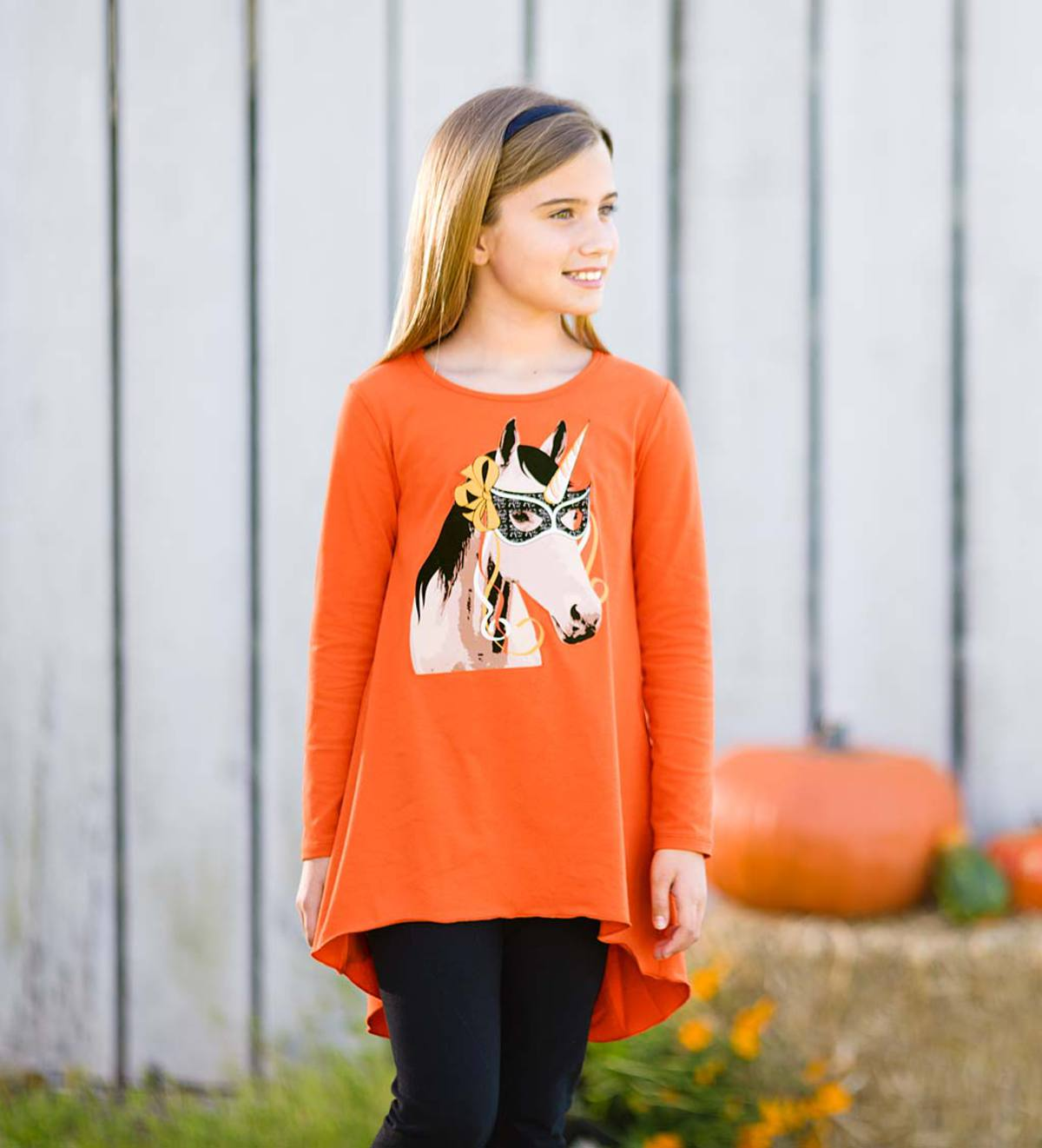 Halloween Horse Tunic - Orange - 16