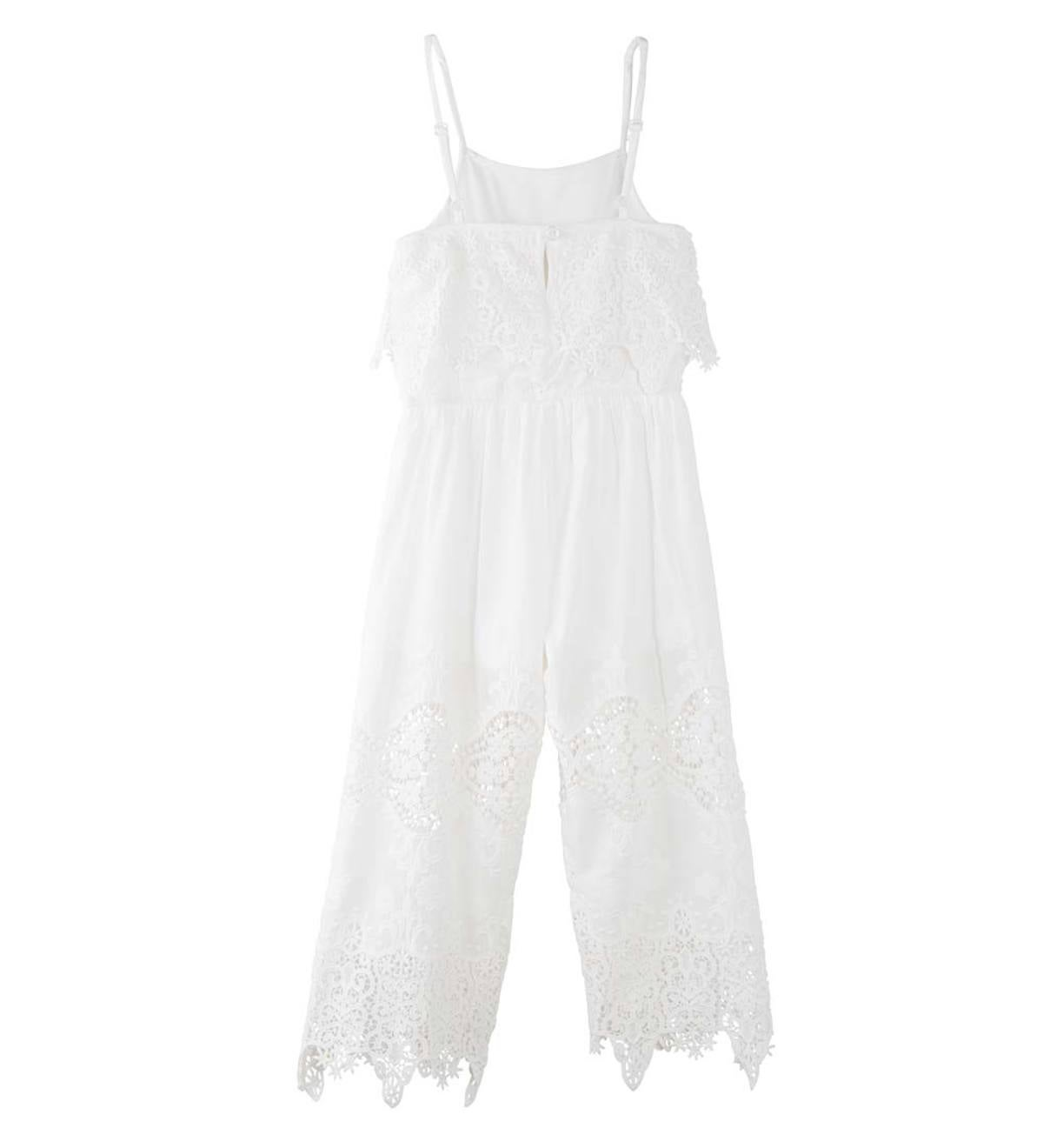 Sleeveless Lace Jumpsuit - WH - 6