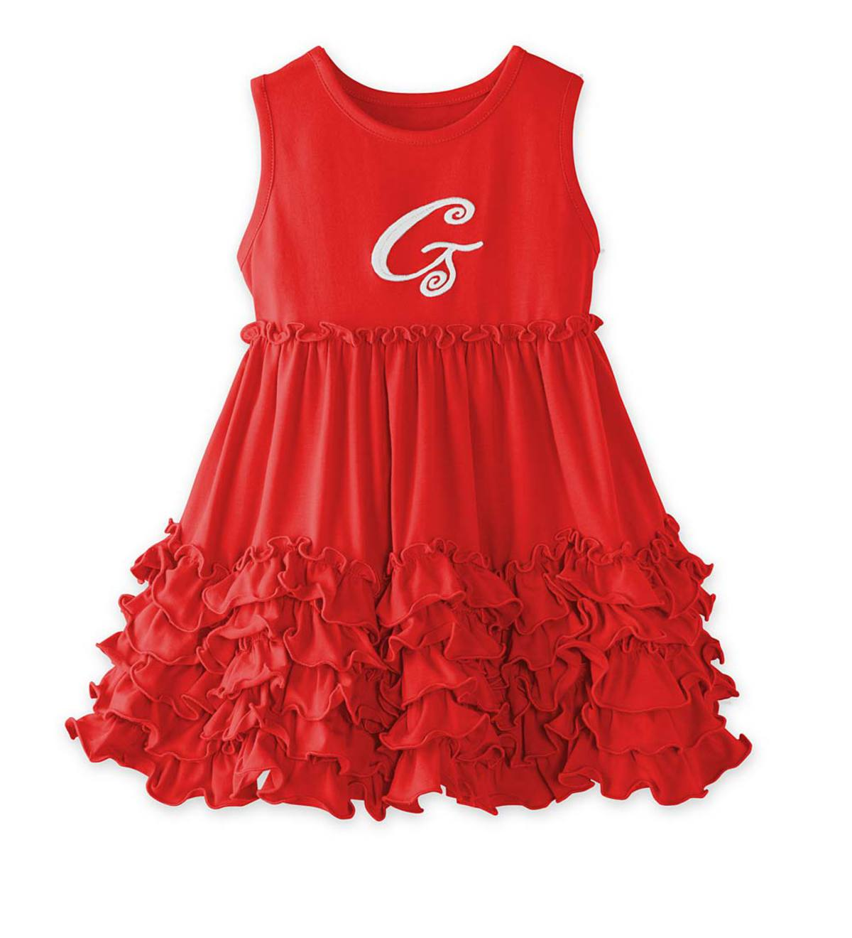 Personalized Sleeveless Ruffle Dress - RD - 18M
