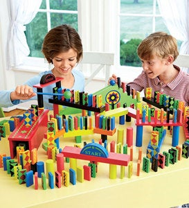 Classic 255-Piece Domino Race Special Plus 24-Piece Add-On Set