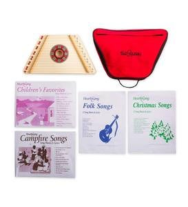 Lyrical Lap Harp Special with Lap Harp, Carrying Case, and 48 Extra Song Sheets