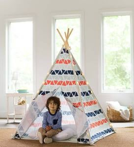 GeoArt Patterned-Fabric 4-Pole Teepee