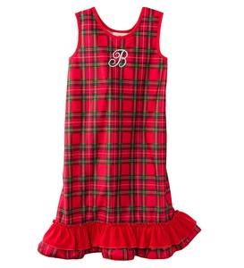 Personalized Plaid Peignoir Set - Red - 12