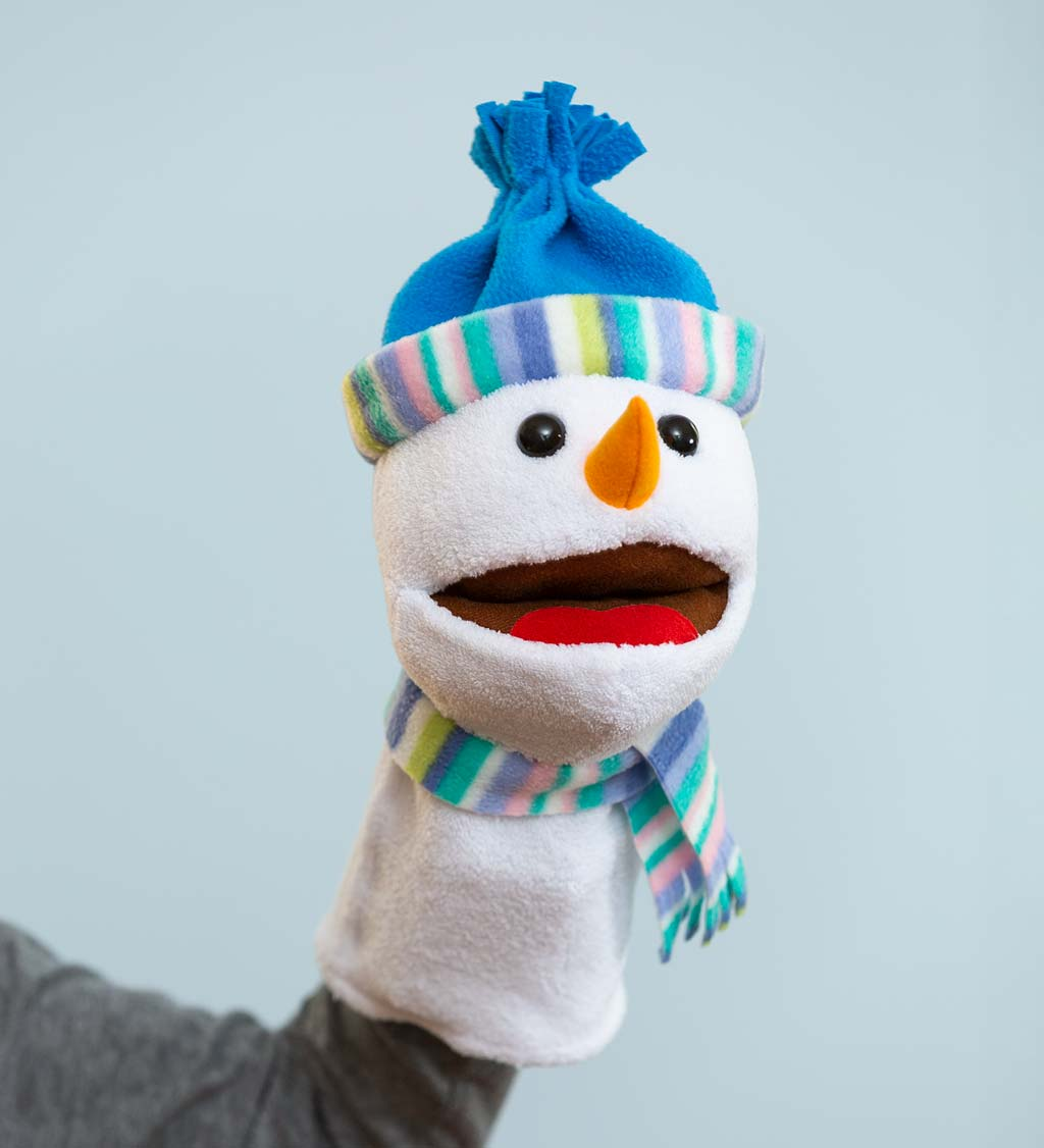 Singing Snowman Hand Puppet, set of 2