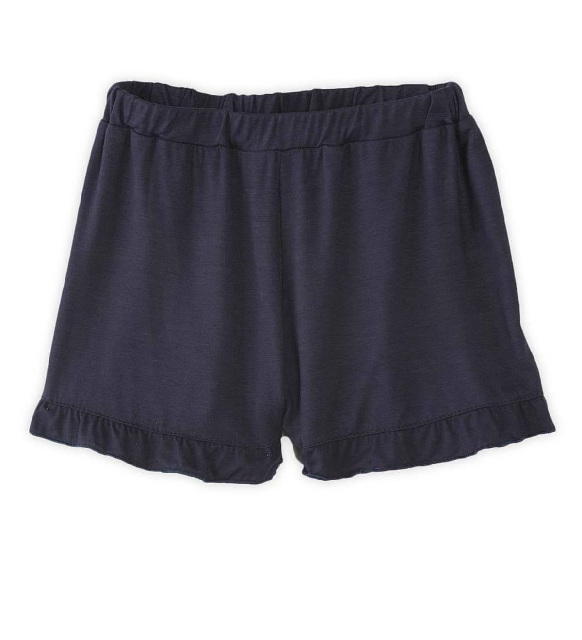Solid Shorts with Ruffle Hem - NY - 6