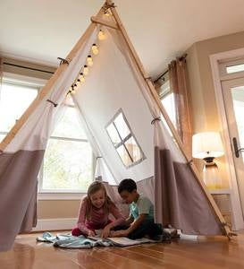 Wooden Canvas A-Frame Tent