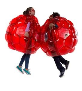 Set of Two Red LED Buddy Bumper Balls