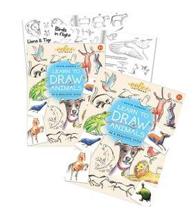 Learn to Draw People and Animals, Set of Two