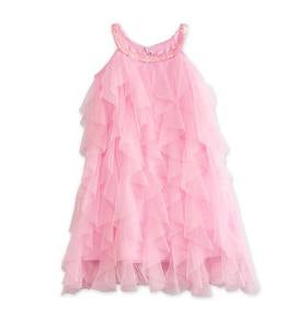 Ruffle Front Dress - Pink - 2