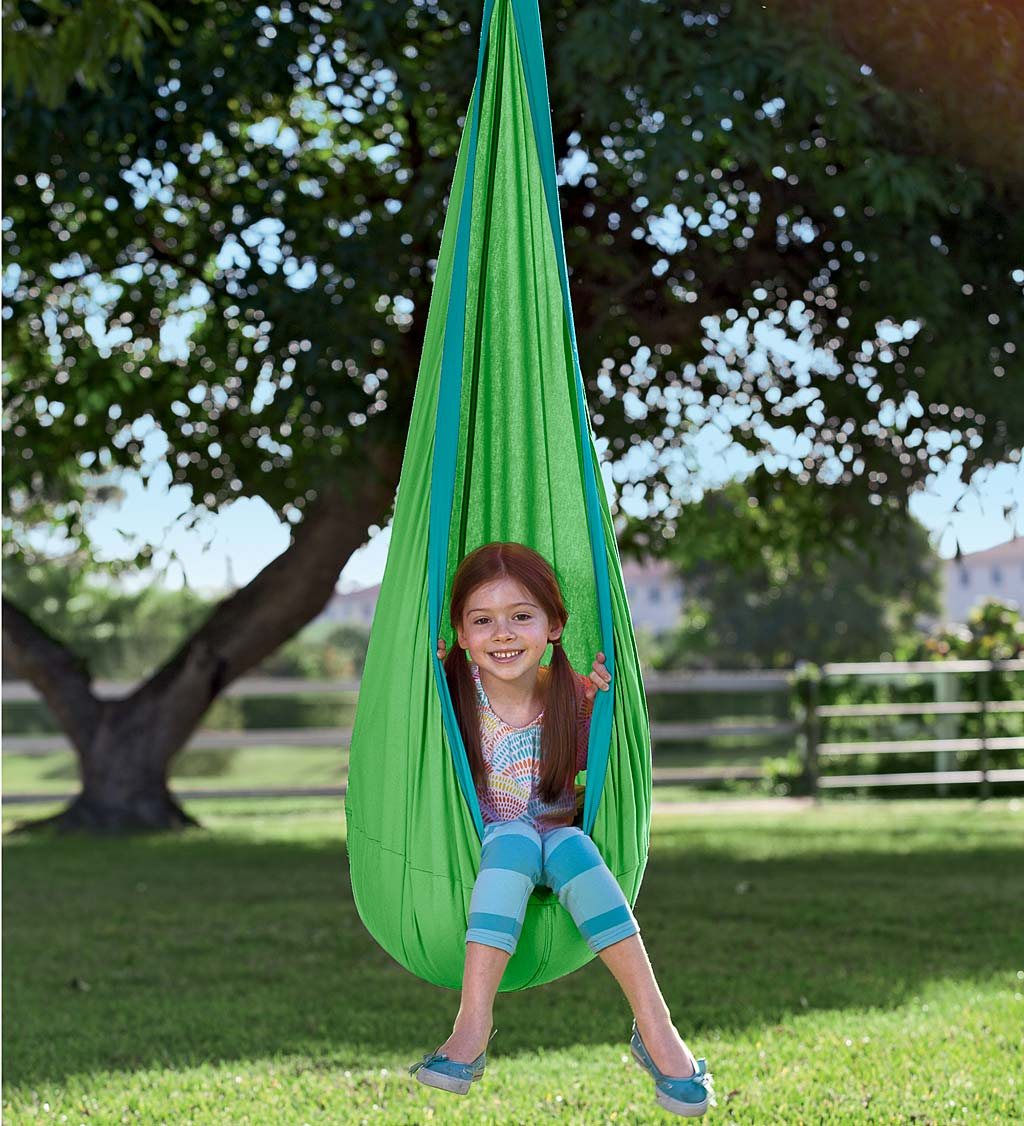 HugglePod Indoor/Outdoor Canvas Hanging Chair - Blue