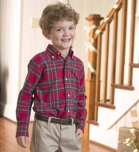 Tartan Plaid Shirt - Red - 2T