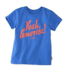 "Short Sleeve ""Yeah, America"" Graphic Tee - BL - 4T"