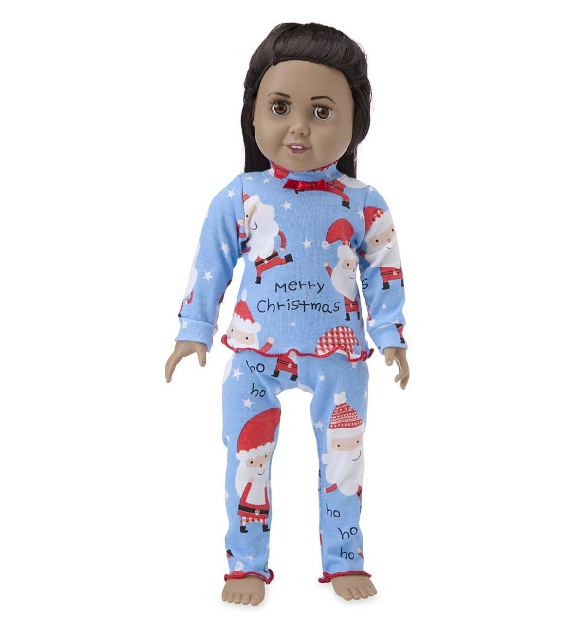 Santa Faces Pajamas - Blue - 16