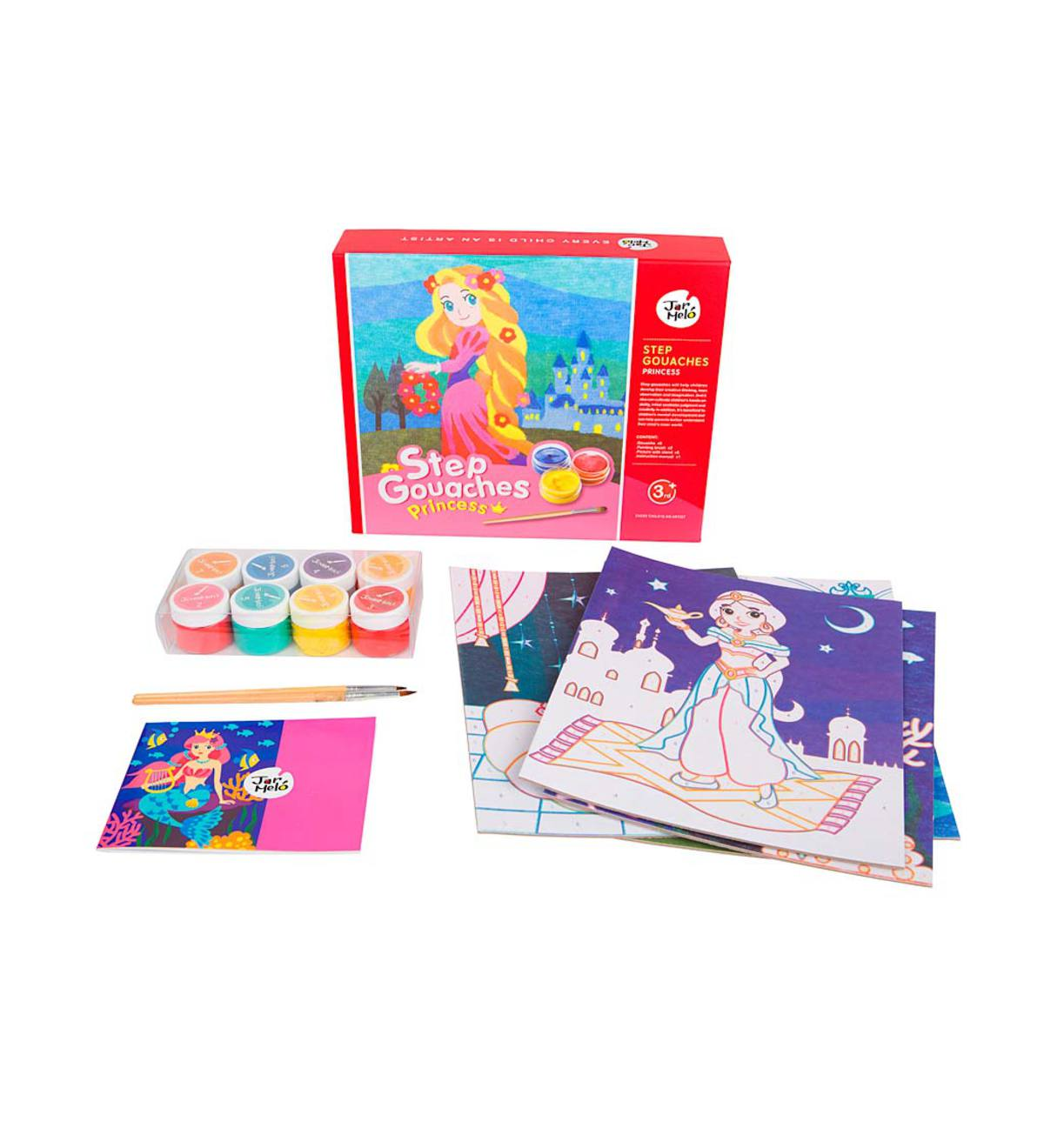 Princess Step-By-Step Gouache Painting Kit