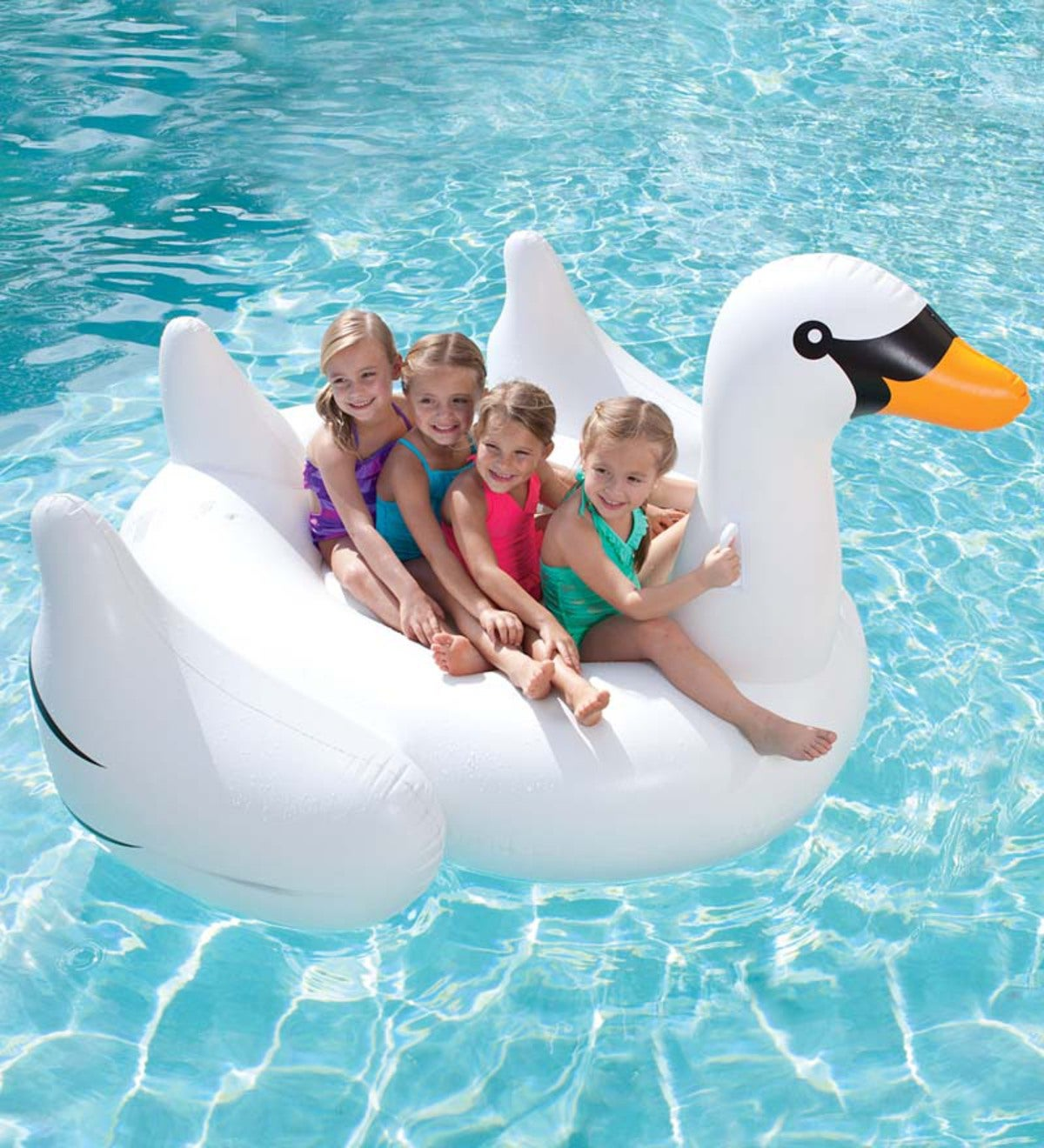 Giant Inflatable Swan Pool Float