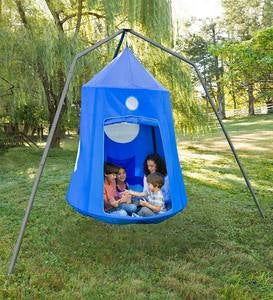 Nylon Family HugglePod® HangOut™ and Family HugglePod HangOut Stand Special - Purple