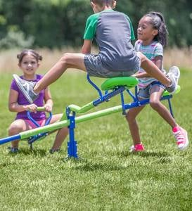 Quad-Seat Teeter Totter