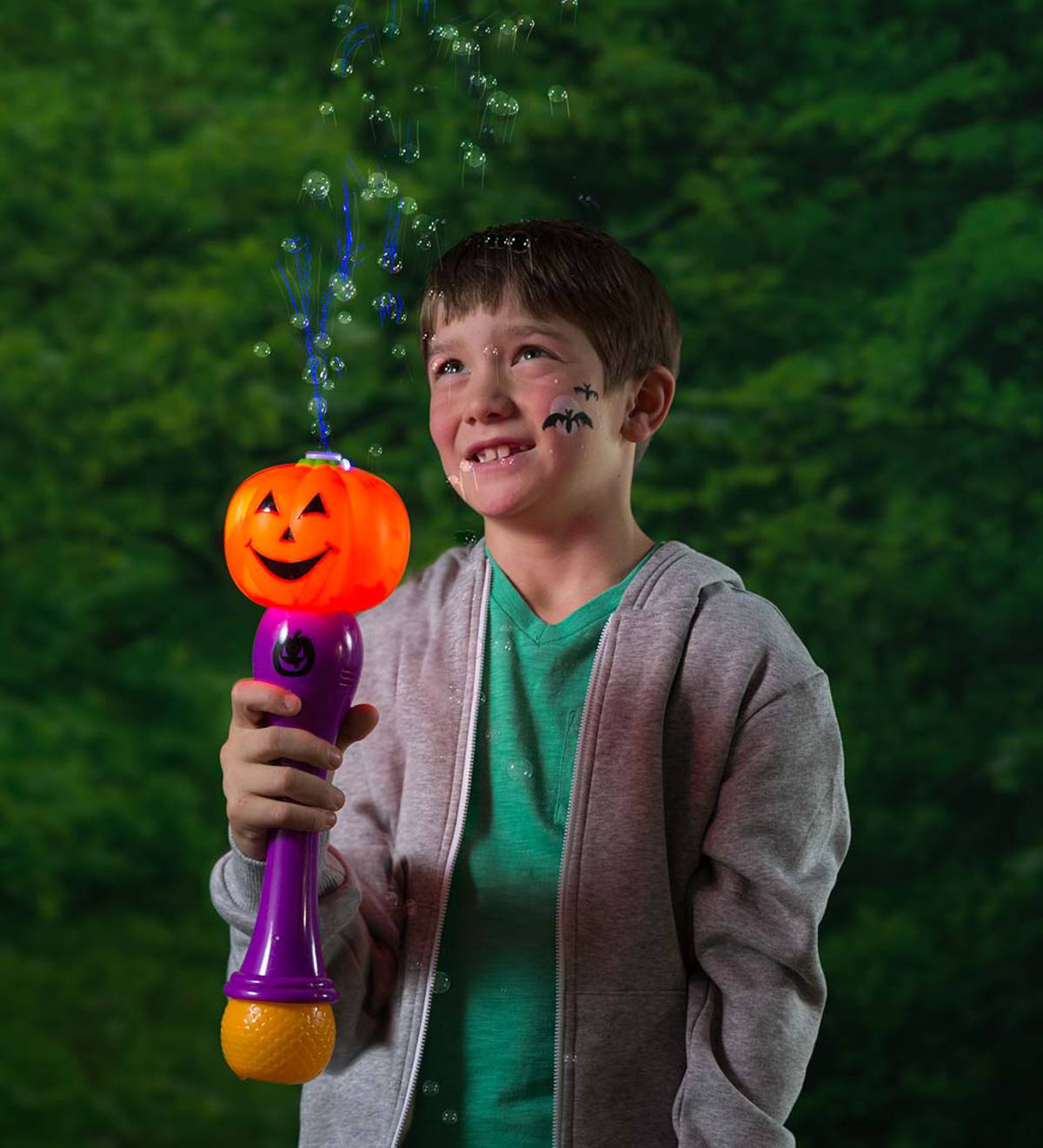 Light-Up Pumpkin Bubble Wand