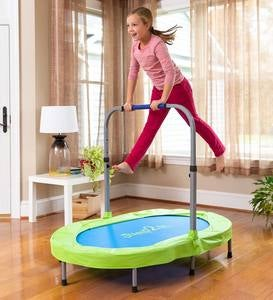 Jump2It Indoor Trampoline with Adjustable and Folding Handle