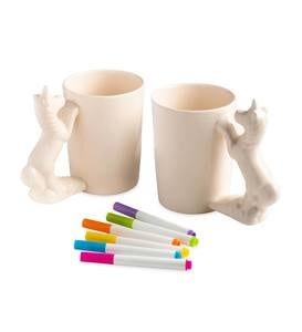 Color Pops Paint-Your-Own Character Mugs