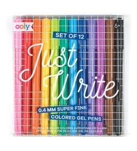 Just Write Super Fine Colored Gel Pens (set of 12)