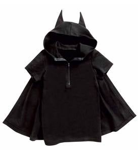 Hooded Bat Top with Cape - Black - 5/6