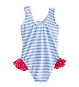 Anchor Dot Swimsuit - Blue - 24M