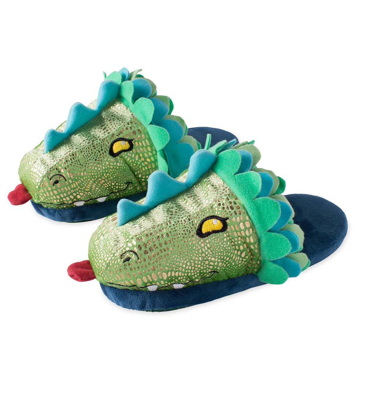 Kids' LED Light-Up Dragon Slippers - Child's 3-5