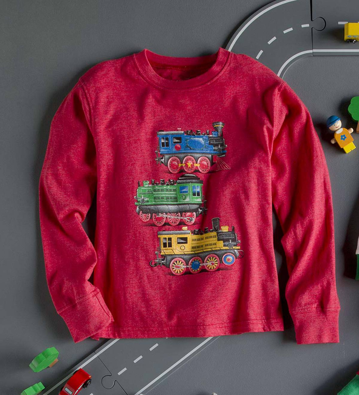 Holiday Train Tee - Green - 7