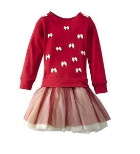 Bows Dress - Red - 12