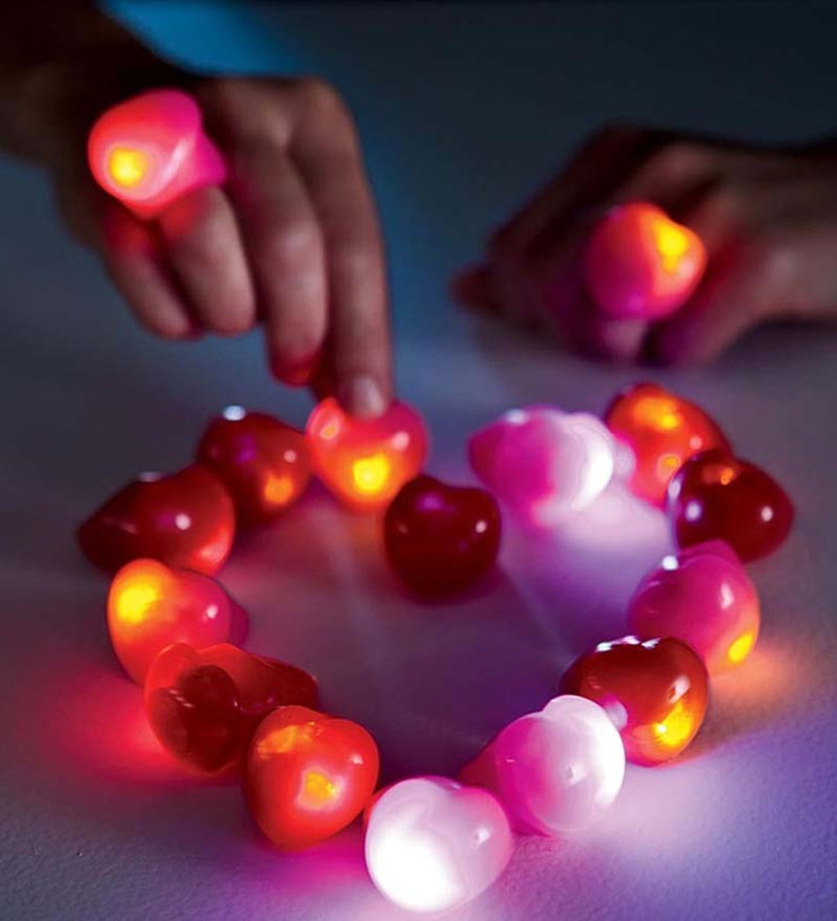 Flashing Heart Rings