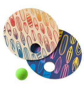 Wooden Surf Paddle Ball Set