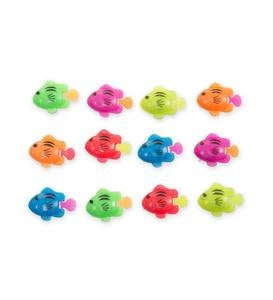 Small Rectangle AquaPod® with Colorful Fish - Blue
