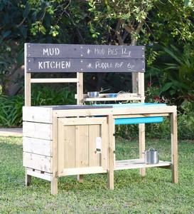 Mud Kitchen with Stainless Steel Accessories