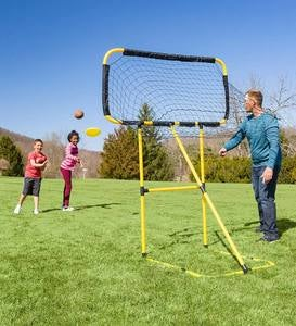 Football and Disc Target Practice Kick 'n Toss Set
