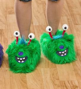 Green Monster Slippers