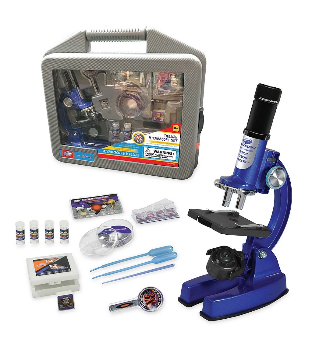 62-Piece Student Microscope Set with Carrying Case