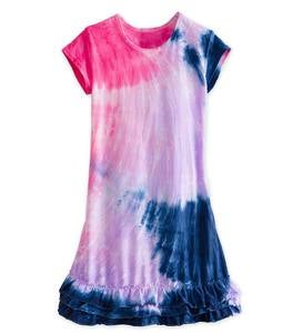 Tie-Dye Ruffle Cover-Up