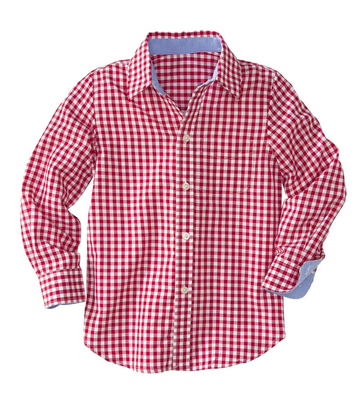Kids' Check Shirt - Red - 12