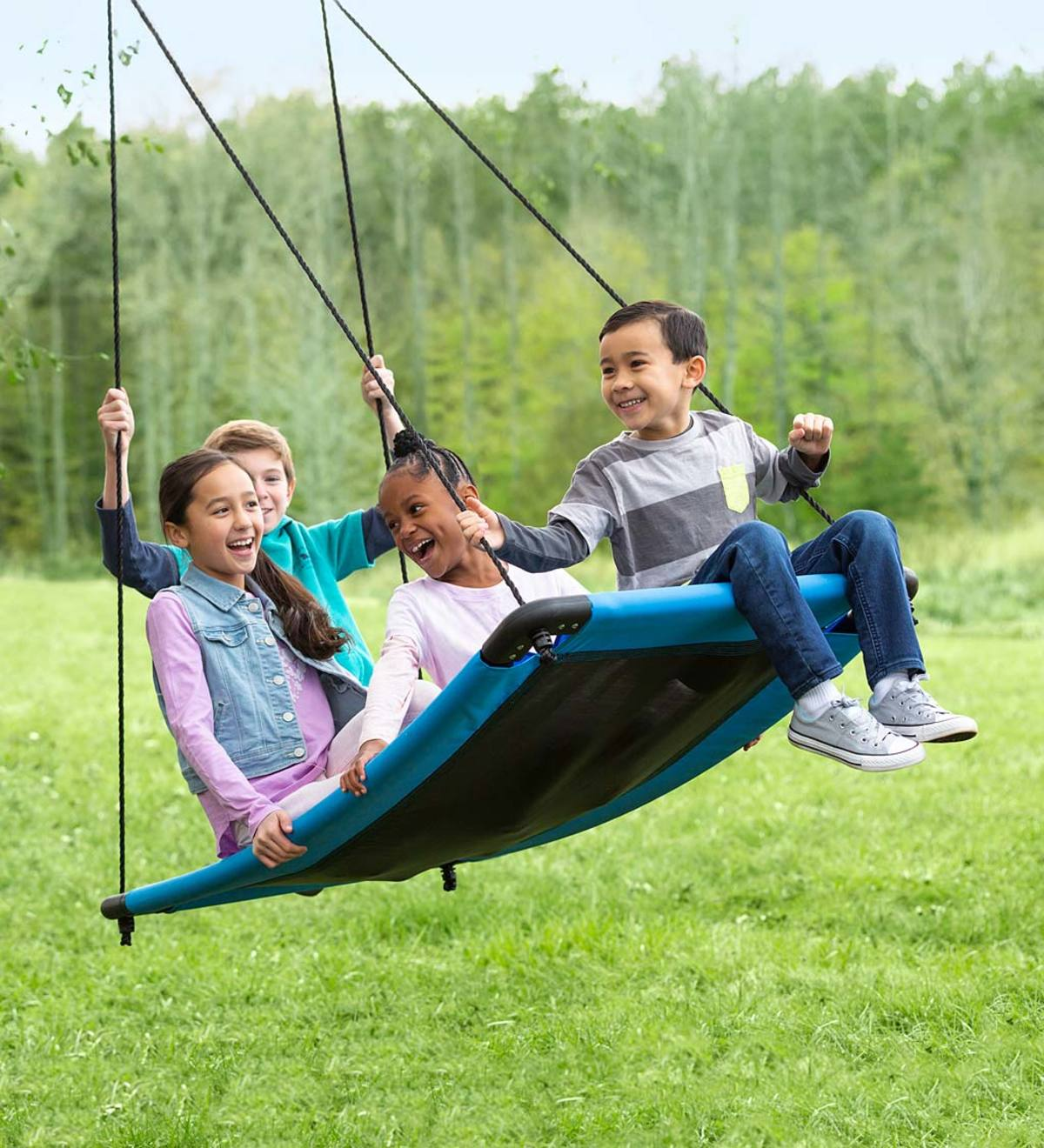 SkyCurve Platform Tree Swing with Comfy Mat and Padded Steel Frame