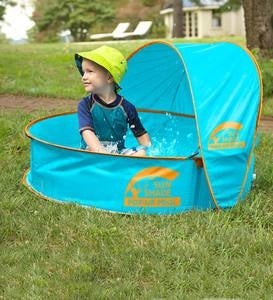 SunShade Pop-Up Pool with UV-Protected Canopy and Carrying Bag