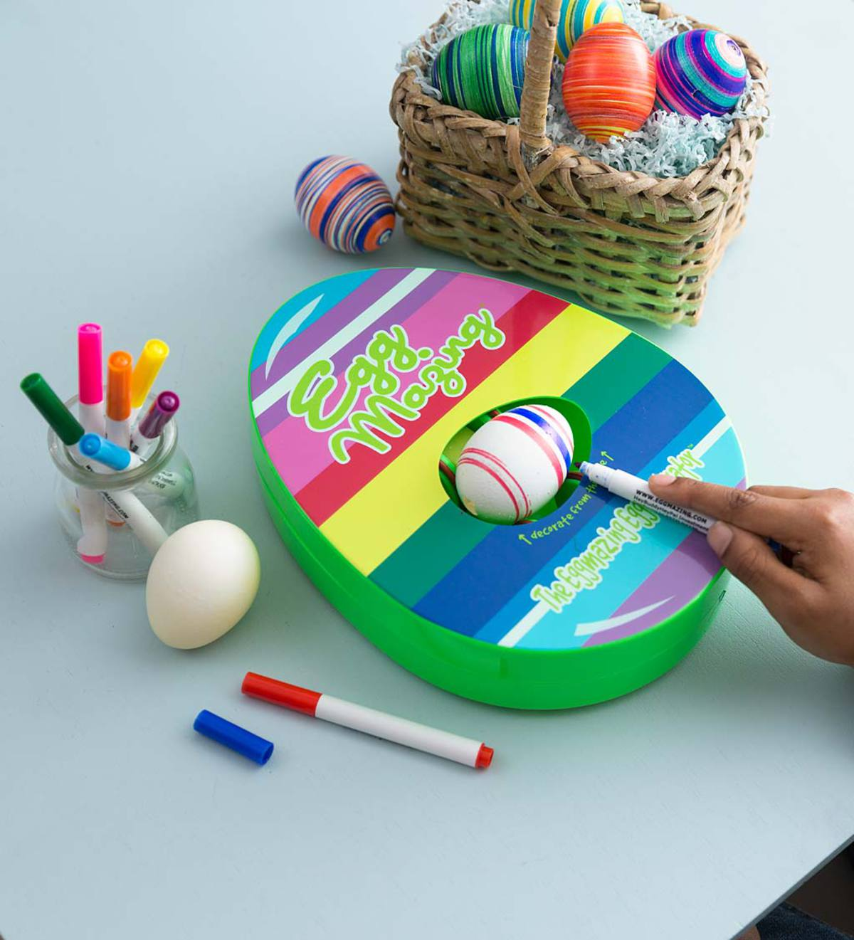 EggMazing Egg Lathe with Eight Food-Safe Markers
