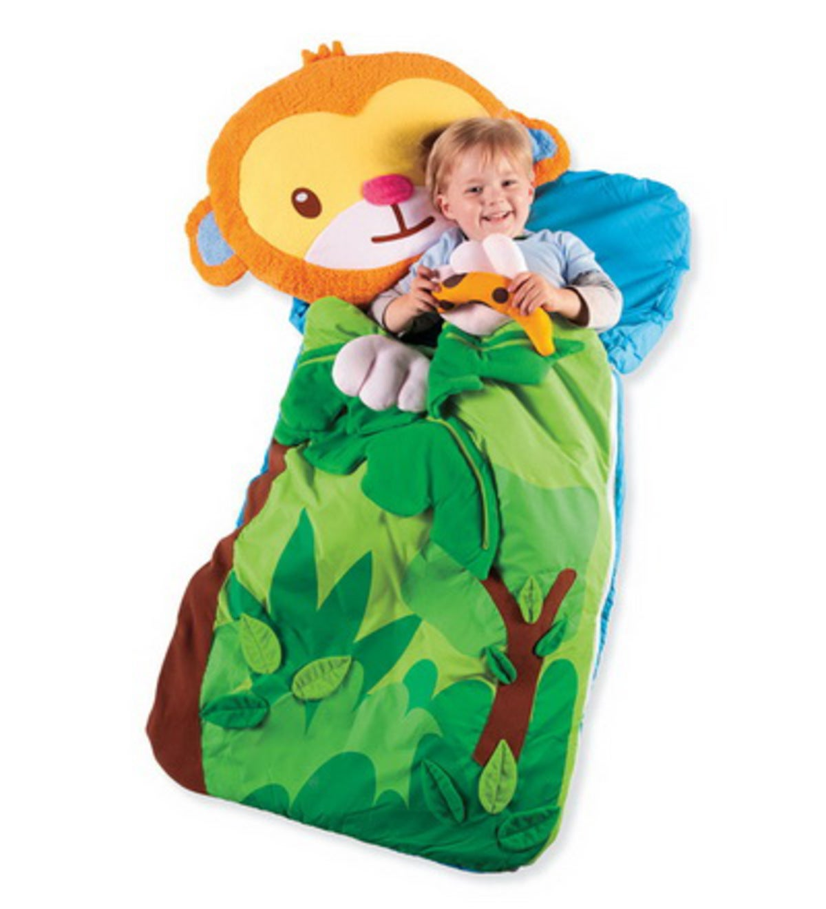 Sillies Sleeping Bag with Plush Pillow - Monkey with Banana