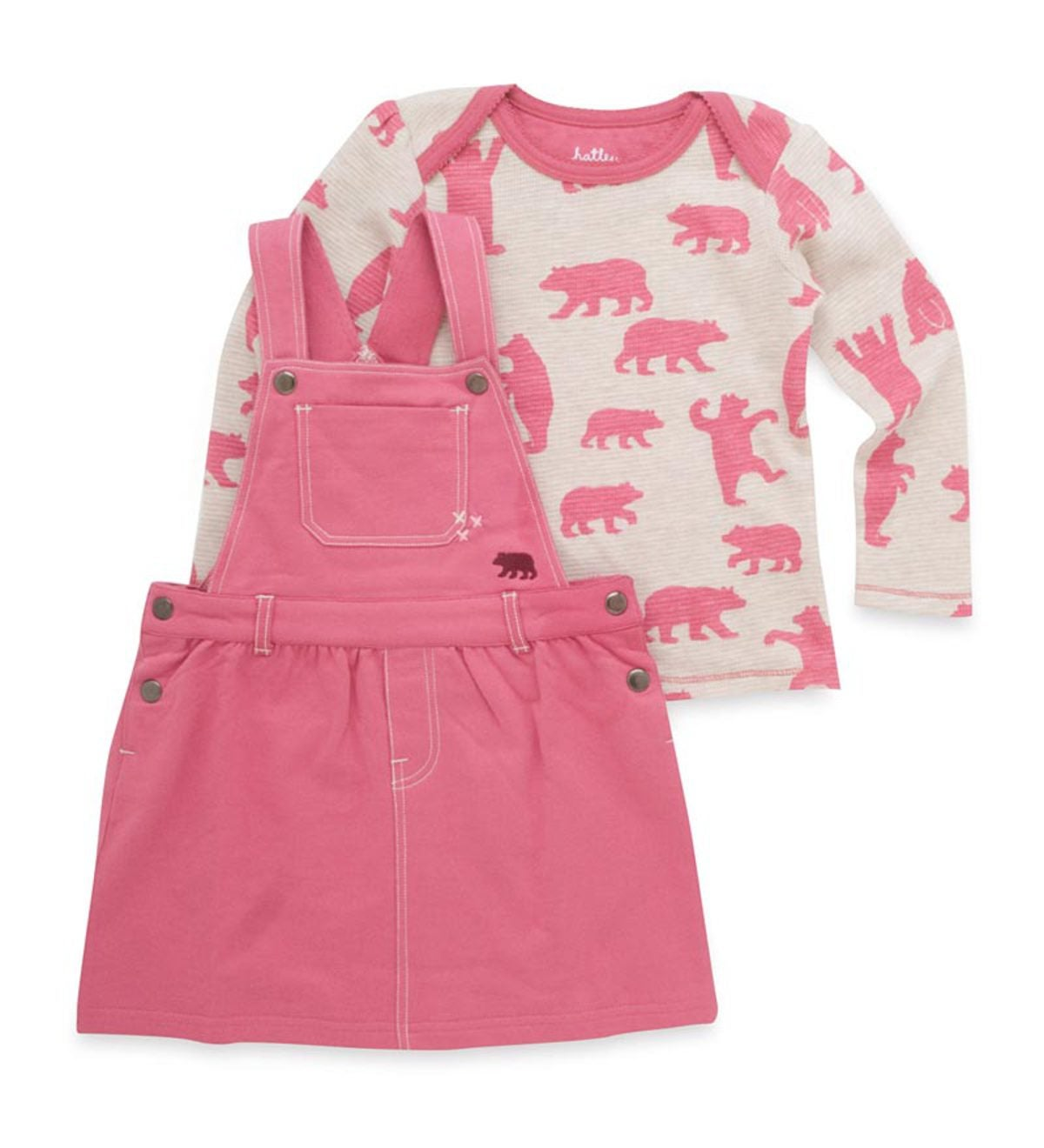 Pink Bear Jumper Set
