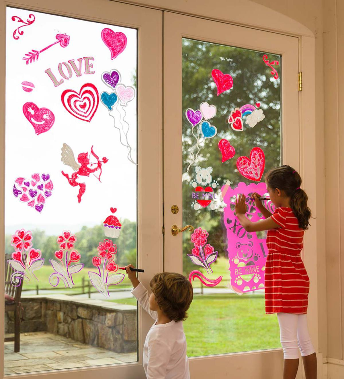 Christmas Gifts For 18 Year Old Boy: ChalkScapes® Valentine Stencils And Window Chalk Markers