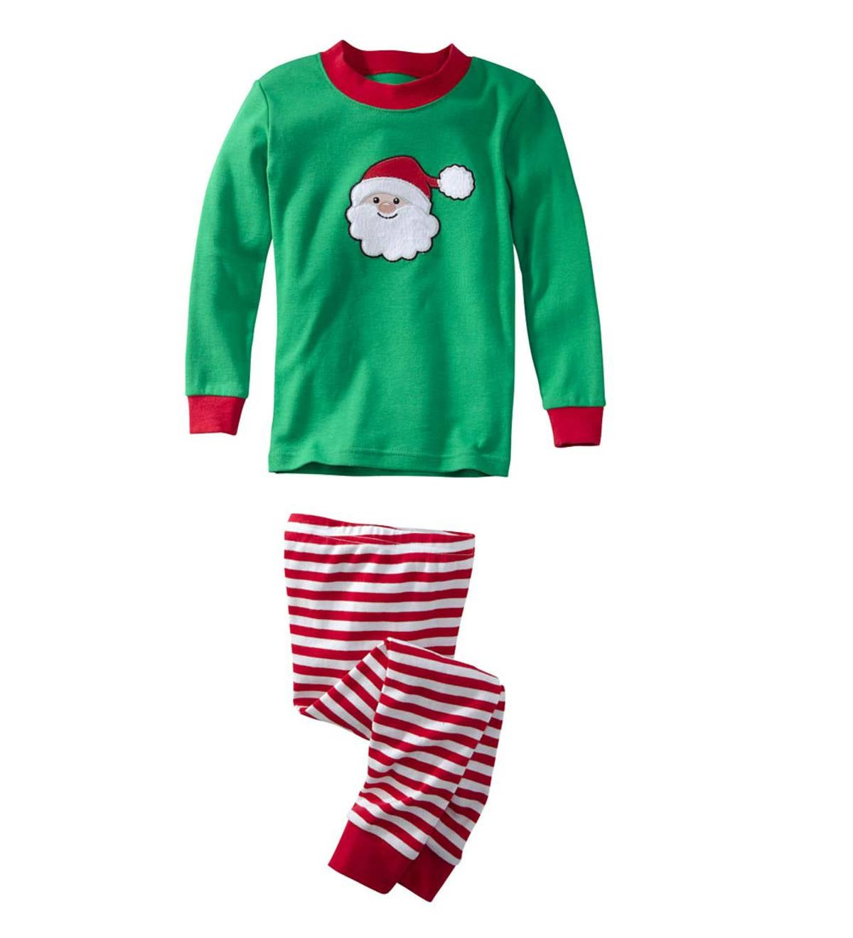 Personalized Santa Pajamas - Green - 5