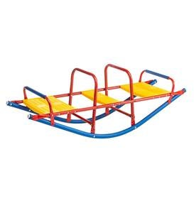 3-Seater Metal Rocking Seesaw with Protective Foam Rockers